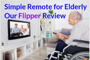 simple remote for elderly | flipper tv remote